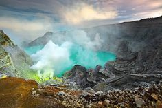 Beautiful Ijen    Ijen Crater is a nature reserve Ijen Park is located between Banyuwangi and Bondowoso District, East Java, Indonesia.  by tropicaLiving - Jessy Eykendorp, via Flickr