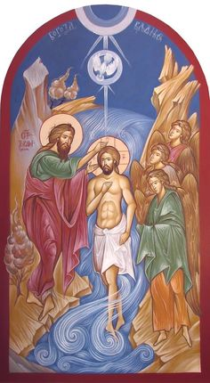 Theophany (Baptism of Jesus Christ) Whispers of an Immortalist: Ministry of Christ 1 God and Jesus Christ Religious Pictures, Religious Icons, Religious Art, Christian Artwork, Christian Images, Byzantine Icons, Byzantine Art, Holy Art, Baptism Of Christ