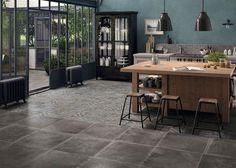Cocinas industriales: pavimentos singulares y excelentes que representan un lienzo donde desarrollar exquisitas decoraciones. #arquitectura #diseño #interiorismo