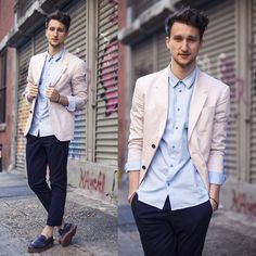 Layering different brights for the men?