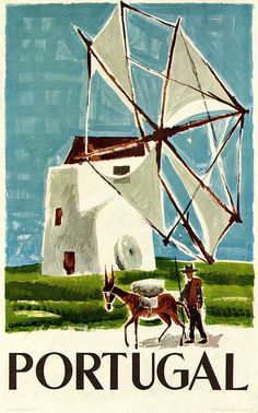 Oskar Pinto Lobo Illustration - From a series of posters to promote travel in Portugal issued by the National Tourist Office. - From Graphis Annual 61/62