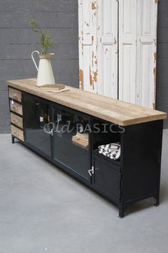 Furniture, House Design, Metal Cabinet, Cutlery Storage, Home Decor, Living Room Interior, Home Deco, Interior Design Living Room, Industrial Home Design