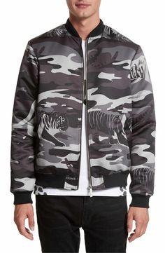 Main Image - Versace Jeans Camo Tiger Bomber Jacket