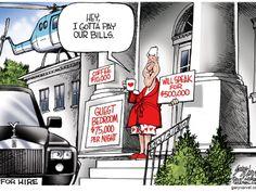 Cartoonist Gary Varvel: Bill Clinton is just paying bills