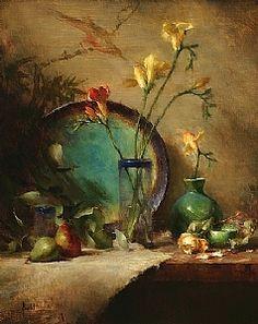 """Turquoise and Green"",David Reidel."
