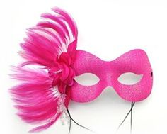 hot pink masquerade mask