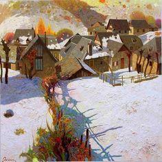 Meet The Artist: Pedro Roldán Molina Landscape Art, Landscape Paintings, Modern Wall Art, Contemporary Art, Spanish Artists, Paintings I Love, Winter Art, Illustrations, Meet The Artist