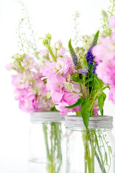The Ordinary Lovely: May Day posies and simple flower arrangements in jars. Styling the season in Spring.