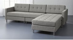 ditto II grey sectional sofa | CB2