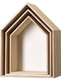 bloomingville regal wandregal haus pastell 3tlg girls. Black Bedroom Furniture Sets. Home Design Ideas