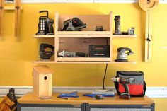 Power tool charging station.