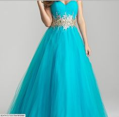 blue prom dress with sparkly design under the bust