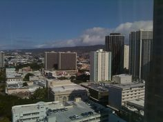 Another view from my hotel window downtown Honolulu!
