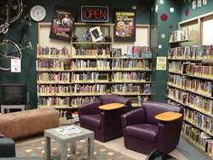 Whitman County Library shows how you can take a small corner and really make it teen-friendly.