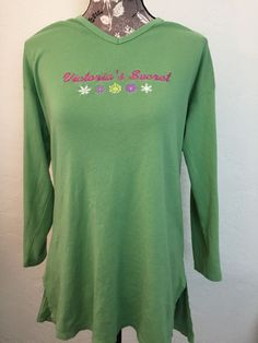 Victoria's Secret Women's Green Embroidered Snowflake Nightshirt Size S   eBay