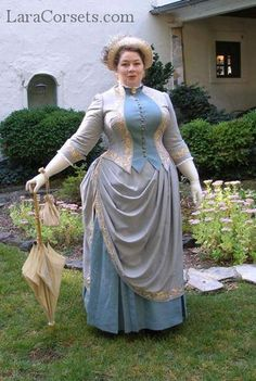 Reproduction 1880s gown by LaraCorsets