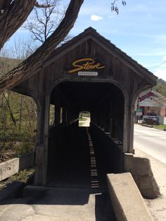 Covered bridge in Stowe, VT