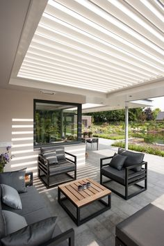 Outdoor Rooms, Outdoor Living, Outdoor Decor, House Extension Design, Minimalist House Design, Exterior, Fashion Room, Garden Furniture, Home And Living