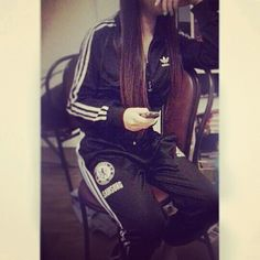 Image via We Heart It https://weheartit.com/entry/125754053/via/25152259 #adidas #Chelsea #girl #jogging #moi #street #woman #bigo #thuglife #survet