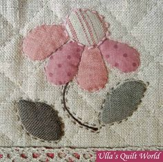 Love the faux stitch needlework.Ulla Mundial do edredon: saco de Quilt - patchwork japonês