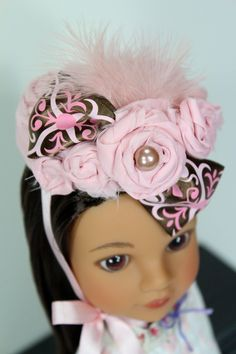Eco-Friendly Doll Hat for American Girl, Heart for Heart, Pullip and other 15 to 18 inch Dolls. $12.99, via Etsy.