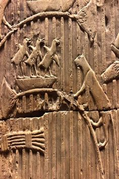 Cat threatening birds. Fragment of a Tomb relief Limestone Thebes 26th Dynasty (664-525 BC) at Vatican Museums - Musei Vaticani Cats In Ancient Egypt, Ancient History, Himalayan Cat, Cat Stuff, Big Cats, Cat Art, Archaeology, Castles, Bugs