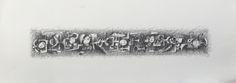 Título: Trayecto en gris  Autor: Alvaro Galindo Vácha  Dimensiones: 27,5 x 76 cm  Técnica: Lápiz sobre papel  Año: 2003  Firmado: Frente y Revés