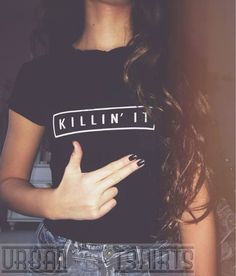 KILLIN IT T-SHIRT DOPE STREET WEAR RAP HIP-HOP CLOTHING PREMIUM QUALITY ! #URBANTSHIRTS
