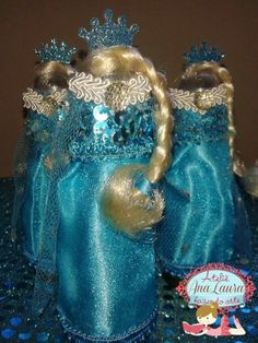 Ana Laura Fazendo Arte: Festa Frozen Tubete Vestido Princesa Elsa