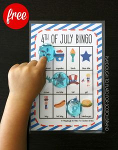 Free 4th of July Bingo! My kids will love this easy prep July 4th game.   #MakeAmazing #ad