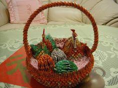 3D Origami - Origami Gift Basket