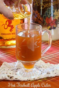 Crockpot Apple Cider, Apple Cider Drink, Homemade Apple Cider, Fireball Drinks, Fireball Recipes, Alcoholic Drinks, Alcohol Recipes, Beverages, Bourbon Drinks