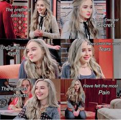 I love Sabrina Carpenter! Disney Channel Shows, Disney Shows, Sabrina Carpenter, Disney Memes, Disney Quotes, Sherlock, Girl Facts, Crazy Facts, World Quotes