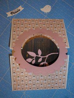 Tuto-carte-oiseau6 Carte Swing, Mini Albums, Blog, Interactive Map, Cards To Make, Creative Crafts, Blogging, Extended Play, Mini Scrapbooks