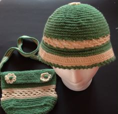 A personal favorite from my Etsy shop https://www.etsy.com/listing/229042432/green-and-cream-hat-and-bag-crochet-girl