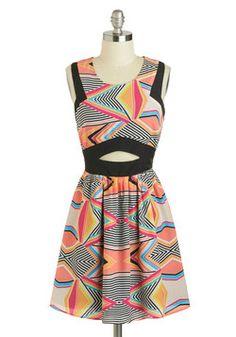 Op Artists Attract Dress, #ModCloth