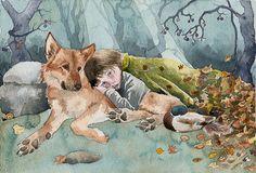 Wolf Boy, illustration de la fantasy, A4 Archiv...