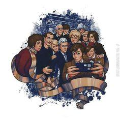 TeeFury wishlist: Doctor Selfie by MedusaD Best T Shirt Designs, Doctor Who Art, Geek Shirts, Don't Blink, Torchwood, David Tennant, Dr Who, Superwholock, So Little Time