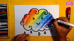 How to draw Rainbow Cloud / Art for Kids