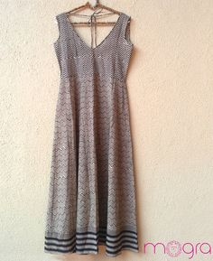 Black and White Block Printed Maxi Dress by MograDesigns on Etsy, $60.00