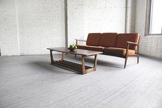 Mid century modern surfboard coffee table —