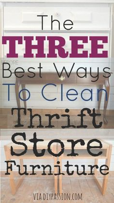 Ways to clean thrift store and second hand furniture