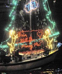 Create an elaborate lighted float for a land or sea parade. It will never be forgotten.