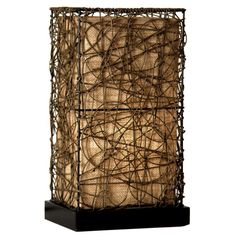 Enhance the look of almost any room in your home with the Natural Rattan Accent Lamp. Impress your family and guests with this unique lighting fixture. You're sure to enjoy a unique rustic feel with this beautiful light.