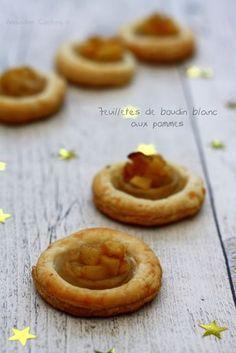 Feuilletés apéritifs au boudin blanc et aux pommes