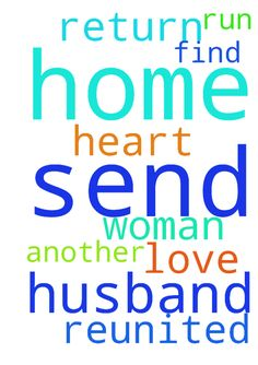Dear lord and God  please send my husband home to me - Dear lord and God  please send my husband home to me he has run of with another woman .let his heart find the love he had for me return so we can be reunited .amen . Posted at: https://prayerrequest.com/t/jrG #pray #prayer #request #prayerrequest