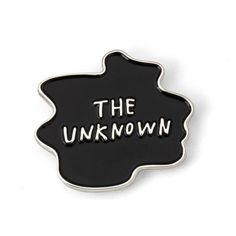 THE UNKNOWN Enamel Pin ($10) ❤ liked on Polyvore featuring jewelry, brooches, pins, accessories, fillers - black, enamel brooches, pin brooch, enamel jewelry and pin jewelry