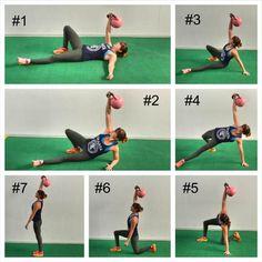 Kettlebell Routines, Kettlebell Deadlift, Kettlebell Circuit, Kettlebell Training, Daily Exercise Routines, Kettlebell Swings, Exercise Moves, Tabata, Fitness Goals