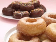 Recipe Donuts caseros by , learn to make this recipe easily in your kitchen machine and discover other Thermomix recipes in Dulces y postres. Donut Recipes, Gourmet Recipes, Cooking Recipes, Chocoflan Recipe, French Bakery, Recipe Today, Doughnut, Food Print, A Food