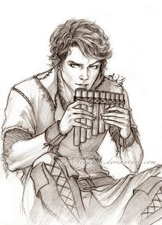Not usually in to fanart, but I love this piece. It's a great representation of Pan from once upon a time.